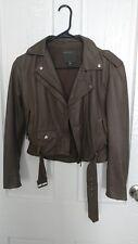 Muubaa Olive Green Leather Jacket UK 4 Size Small