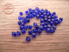 Mezzi Cristalli praline palline perle sfaccettate Bicono blu Bijoutteria 4x4mm
