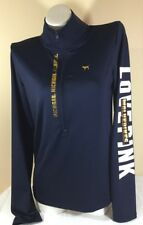 VICTORIAS SECRET LOVE PINK YOGA ULTIMATE MICHIGAN WOLVERINES Lg PULLOVER F2454