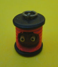 Antique Celluloid Japanese Kobe SPOOL Charm POP OUT EYES