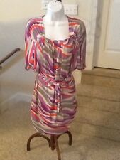 Ladies Max and Cleo Vibrant Stripe Belted size XS Dress EUC
