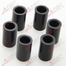 "6PCS 16mm 5/8"" Silicone Blanking Cap Intake Vacuum Hose End Bung Plug Caps Black"