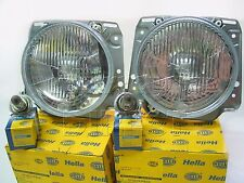 Pair Hella OEM Headlamps Headlights & H4 Bulbs VW Mk2 Golf 1.8 GTI 16V & G60 RHD