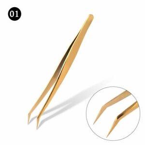 Professional Eyelash Extension Tweezers Set Stainless Steel Lashes Tweezers Kit