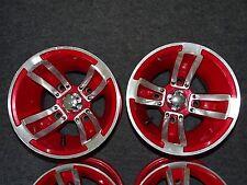 """MSA / MA - Alufelgen Typ S-3 """"REDLINE"""" rot, 10x8, 4x110, NEU für Quad / ATV"""