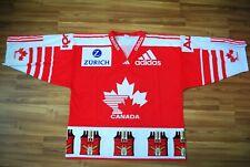 CANADA NATIONAL TEAM HOCKEY JERSEY SHIRT ADULT XL VINTAGE RARE 80s ADIDAS SIGNED
