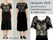 JACQUES VERT Lace & Chiffon special occasion Dress ( fit generous 12) RRP £189