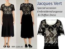 Jacques Vert Dentelle & Mousseline Occasion Spéciale Robe (ajustement généreux 12) RRP £ 189