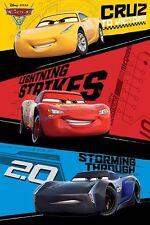 Cars 3 - Trio POSTER 61x91cm NEW * Lightning McQueen Cruz Ramirez Jackson Storm