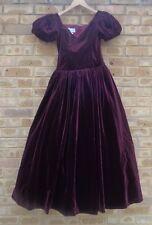 True vintage Gina Fratini size 10 burgundy velvet full length dress VERY RARE