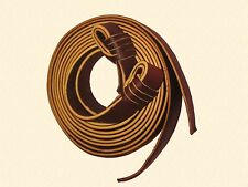 """Sovereign Saddlery 1"""" Red Allum Leather Gulf Knot Long Reins"""