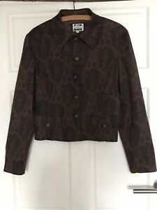 New. Iceberg. Snake Skin Print Jacket Blazer. Brown Size M/42