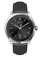 HUGO BOSS CIRCUIT SPORT LUX Black Dial Leather Band Men's Watch 1513729