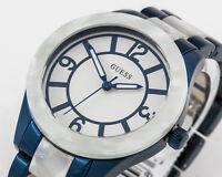 GUESS Damen Uhr Edelstahl blau perlmutt NEU W0074L3 G6