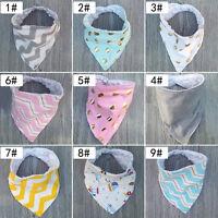 Baby Girls Boys Saliva Towel Bandana Bibs Dribble Triangle Head Scarf 42*19.5CM