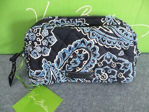 Vera Bradley Blue Bandana Small Zip Cosmetic Bag #14973-286 Blue Multi - New
