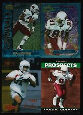 (4) 1995 Frank Sanders Rookie Card RC 4 card lot  SP Finest Select Bowman's Best