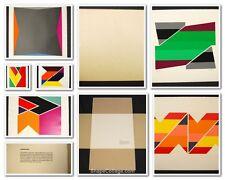 Larry Zox Six Pencil Signed Original Silkscreen Prints in Cloth Portfolio