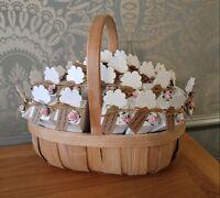 25 confetti cones natural biodegradable rose petal natural basket personalised