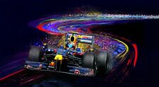 Automotive Car Motorsport Art Sebastian Vettel Red Bull Formula 1 F1 print