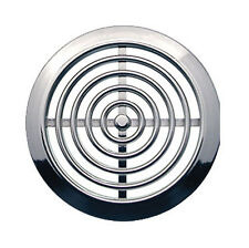 MINI 2x Air Vent Grille Covers 45mm (1.77inch) Ducting CHROME Ventilation Cover