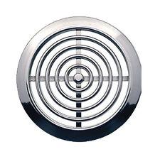 MINI 2x Griglia Di Ventilazione Cover 45mm (4.5cm) Condotto CROMO Coperchio
