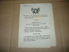 1885 REGIO DECRETO ISTITUZIONE LICEO TERENZIO MAMIANI NELLA CITTA' DI ROMA