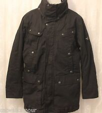 Diesel Military Waterproof Field Quilted Funnel Neck Parka Coat Black XXL