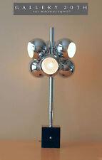 EPIC! CHROME MID CENTURY MODERN SONNEMAN MOLECULE TABLE LAMP! Sarfatti 50s light