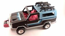 PLAYMOBIL VINTAGE 3764 PICK UP TRUCK 4X4 BLACK BLUE W/ BOX-VEHICLE ONLY-CLEAN!