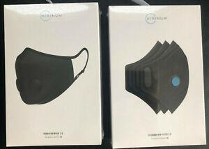 New AIRINUM Urban Air Mask 2.0 Onyx Black Size Medium & 3x Urban Air Filters M