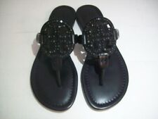 TORY BURCH Miller Sandals Embellished Black Size 6.5 New With Box FREE SHIPPING