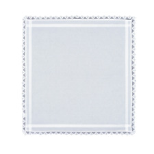 """New listing Heritage Lace White Glenfield 42""""x42"""" Table Topper with Crochet Trim"""
