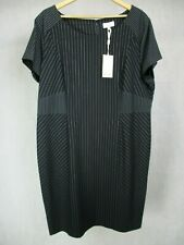 Ladies Linea UK Size 22 Dress Navy Short Sleeve Miami Vice Pin Stripe BNWT