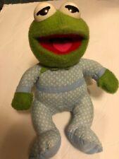 "Vintage 1985 Sesame Street 10"" Plush Kermit Frog Muppet Babies Pampers Softies"