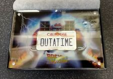 More details for 2020 'back to the future' 'outatime' license plate, 2 oz fine silver coin, mint