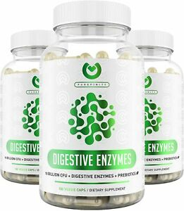 Digestive Enzymes 1000MG Plus Prebiotics & Probiotics Supplement, 180 Capsules,