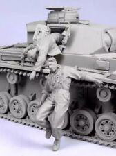 1/35 Resin Figure Model Kit German Soldiers Tank Crew (no tank) WWII Unpainted