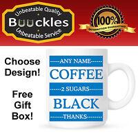 Personalised Tea Coffee Instructions Name Mug Cup Christmas Gift Birthday