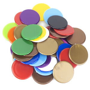 Plastic Counters 22mm (Select Colour) Round Tiddlywinks Educational Maths Games