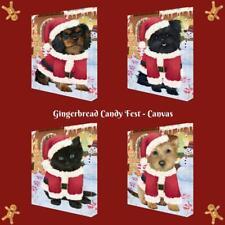 Christmas Gingerbread Candyfest Dog Cat Pet Photo Canvas Wall Art Home Decor