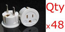 Euro Plugs 48PK - European Schuko Plug Adapter US USA to EU Europe Asia European