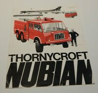 Thornycroft Nubian Fire Engine Colour Leaflet fold out brochure