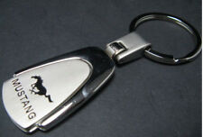 MUSTANG GT cobra fastKey Chain Ring-CHROME Plated Silver Metal keyring key chain