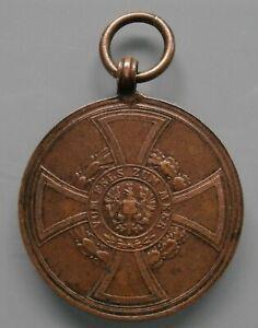 Medaille - Preussen - Hohenzollernsche - Denkmünze für Kämpfer 1848 - 1849