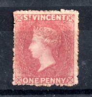 St Vincent 1861 1d rose red mint MH #1 WS12394