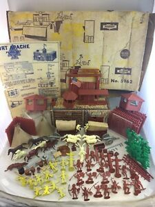 Vintage Marx Sears Allstate Happi Time Fort Apache Playset #5962 W/ Box