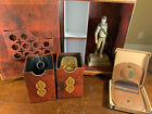 READ! Uncharted 3 Nathan Drake Statue Belt Buckle Ring Necklace + Avery Coin