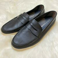 Cole Haan Men's Hyannis Penny Loafer Sz. 9.5 Slip-On Loafers Black Leather Shoes