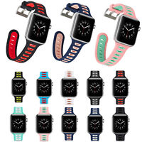 Silicone Rubber Watch Strap Wrist Belt Band w pins for Apple Watch 3 2 1 38/42mm